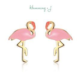 astrologie |Humming J火烈鸟耳环女士个性简约气质日韩耳钉耳饰