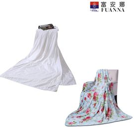 富安娜 芯润蚕丝被 空调被203*229CM春秋被 送 法兰绒毯(午休毯) 花间精灵 均色 80*120cm