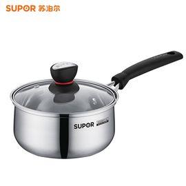 苏泊尔 (SUPOR) 小红圈不锈钢汤奶锅16cm辅食炖煮锅电磁炉燃气通用ST16H1