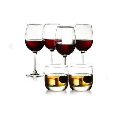乐美雅  品味居家 葡萄酒杯470ml*4+水杯310ml*2 6只装