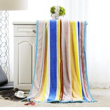 水星家纺  印花空调毯珊瑚绒毯—彩虹之约(150*200cm)