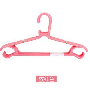 茶花 衣架家用塑料防滑衣架衣柜衣撑晾晒承重轻便衣架