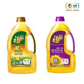 福临门 油惠组合(福临门黄金产地玉米油1.8L、福临门葵花籽油1.8L)