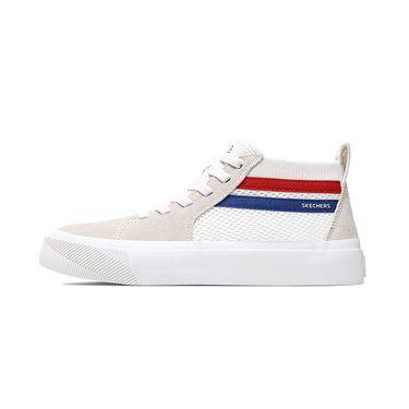斯凯奇 Skechers男鞋女鞋新款透气时尚板鞋 小白鞋中帮休闲鞋 18566/18070