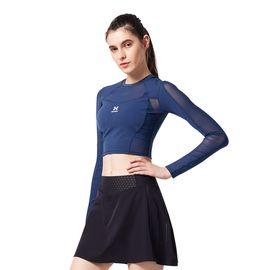 HOTSUIT 美国后秀健身上衣女2018秋季新款弹力运动瑜伽短款修身紧身衣6853005