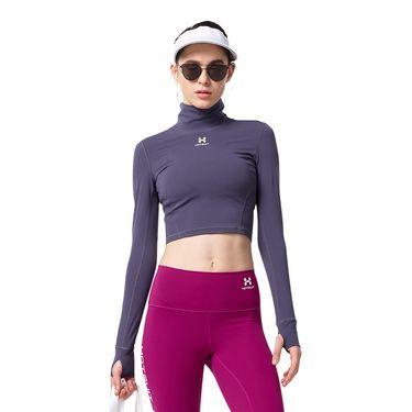 HOTSUIT 美国后秀运动上衣女2018秋季新款透气健身瑜伽长袖修身紧身衣6853006