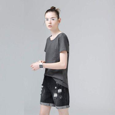 初语 纯棉短袖女装百搭T恤8620131814