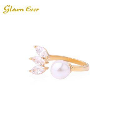 Glam Ever 刘诗诗,张天爱同款 Pearl Glitter Ring  三钻珍珠戒指 洲际速买