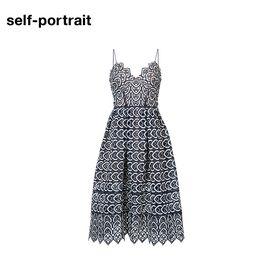 Self Portrait  SELF PORTRAIT 女士镂空连衣裙SP16009 旗舰蓝