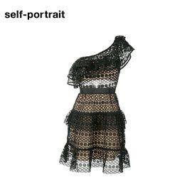 Self Portrait  SELF PORTRAIT 女士镂空连衣裙SP16021 黑色