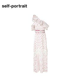 Self Portrait  SELF PORTRAIT 女士斜肩长款连衣裙 SP17077P 象牙色