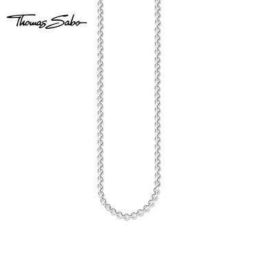 Thomas Sabo 长款基础链小圆环女士925纯银锁骨链项链KE1111 洲际速买