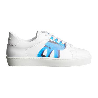 BURBERRY 博柏利 涂鸦印花白色小牛皮女士休闲运动鞋#4076135 联正国际