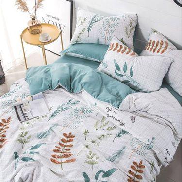 金典水星  柔软亲肤 磨毛暖绒水洗棉四件套床单被套床上用品 1.5m床/1.8m床通用 花型随机发货