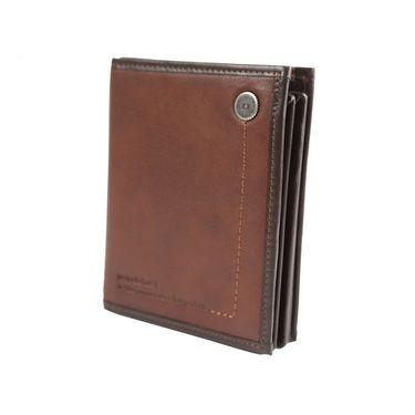 维士十字 竖款简约钱夹钱包 5127-LE1121棕红色