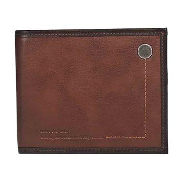 维士十字 横款牛皮钱夹钱包5127-LE0921棕红色