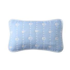 馨 纯棉纱布儿童枕巾 四季透气吸汗枕头巾 A类安全标准婴儿 35*55cm【2条装】