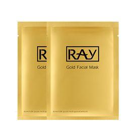 RAY 蚕丝超薄面膜贴 (金色包装) 10片/盒  泰国进口 补水美白保湿控油收毛孔 海淘城海外专营店