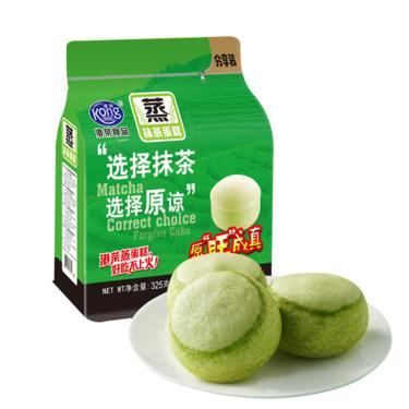 港荣 蒸蛋糕抹茶味325g营养早餐小面包 休闲零食品