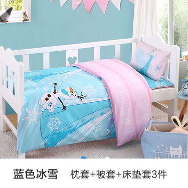 DISNEY 迪士尼儿童宝宝入园床品床单纯棉幼儿园被子三件套含芯六件套午睡