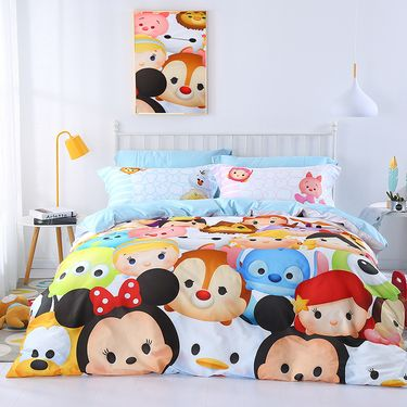 DISNEY 邦亚迪士尼维尼60支纯棉床上卡通儿童三/四件套 数码印花