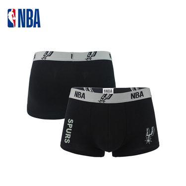 NBA 纯棉吸汗透气运动平角内裤 马刺球队篮球礼品装备/1条装