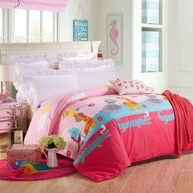 恒源祥 双人2米床卡通可爱被罩全棉被套  呆萌小伙伴TBK3002(200*230cm)