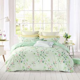 LOVO 印花床上四件套 床单式套件双人1.5米床 清秀佳人(被套200x230cm) VTT6741-4