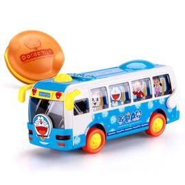 益米 哆啦A梦巴士车合金车合集 宝宝电动巴士儿童玩具车男孩玩具3-6岁  惯性+万向 电动巴士 自动转弯