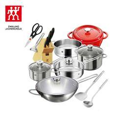 双立人 TWIN Nova III厨房能手中式炒锅套装