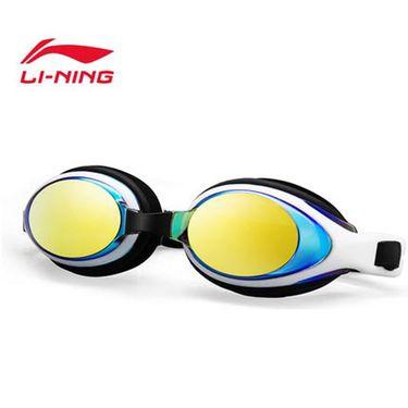 李宁 泳镜高清时尚休闲眼镜防水防雾大框游 泳装备男女士平光泳镜LSJM597