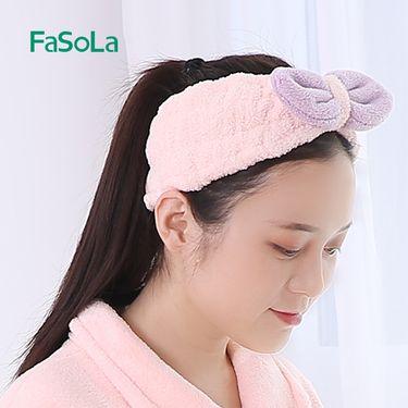FASOLA 束发带洗脸发圈可爱运动大蝴蝶结化妆洗漱发箍头箍发卡发饰品头饰