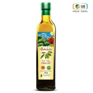 中粮 安达露西特级初榨橄榄油750ml 过节送礼 欧盟认证 物理冷榨 老少兼宜 健康营养