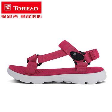 探路者 凉鞋2018夏季新款户外运动女款防滑沙滩鞋TFGG82739