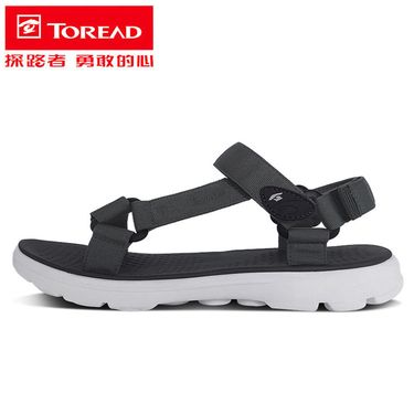 探路者 凉鞋2018夏季新款户外运动男款防滑沙滩鞋TFGG81739