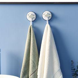 SP SAUCE 日本吸盘挂钩 浴室厨房挂钩 无痕免打孔粘钩 吸壁式卫生间小挂钩