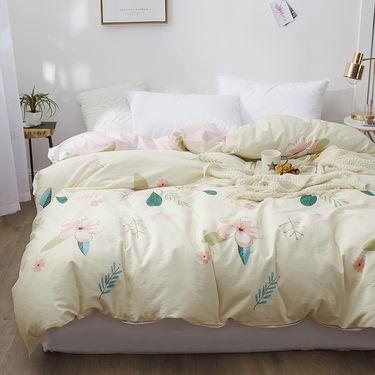 艾桐 全棉斜纹印花被套 单件 纯棉被罩