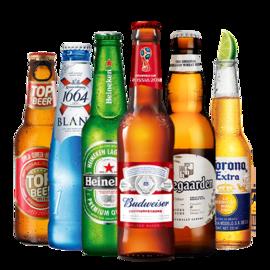 喜力 福佳科罗娜百威1664拓浦 啤酒组合 尝鲜装 共6瓶