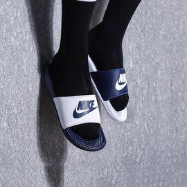 耐克  NIKE BENASSI 夏季男子新品鸳鸯防滑沙滩鞋凉鞋休闲运动拖鞋鸳鸯拖 818736-410