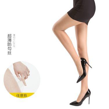 柔系 2双装 5D任意剪水晶丝防勾丝连裤袜 显瘦包芯丝细密水晶丝袜