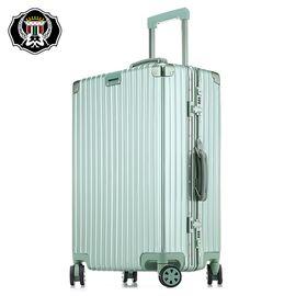 君华仕GENVAS 君华仕拉杆箱万向轮旅行箱商务铝框登机箱行李箱TSA海关密码锁20英寸登机箱G-8009A