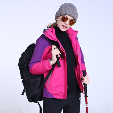 Makino/犸凯奴 2018新款三合一女款冲锋衣厚款夹克 防风保暖外套MA17206