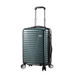 维仕蓝 wissblue 20寸时尚拉杆箱墨绿编织纹 360度超静音万向轮登机箱 TSA海关锁