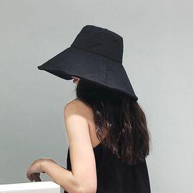 柔系 超大檐渔夫帽盆帽 夏新款遮阳防晒帽 大檐帽