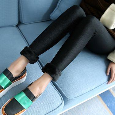 ECONICE  打底裤女薄款修身性感光泽裤春夏新外穿小脚裤黑色紧身裤