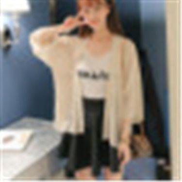 苏吉思 2018春夏新款雪纺衫韩版潮流女装 雪纺休闲罩衫防晒衣开衫