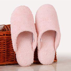 梦特娇 阿瓦提新疆长绒棉包头毛巾拖鞋 纯棉家居木地板拖鞋 情侣款