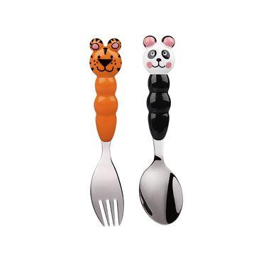 怡饭 Eat4Fun儿童餐具Animos系列叉勺可爱不锈钢套装餐具