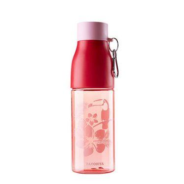 多样屋 Tritan材质水杯环扣便携休闲杯印花彩色随手杯730ml