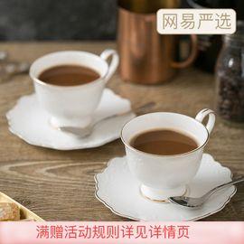 网易严选 欧式鎏金骨瓷杯碟套装